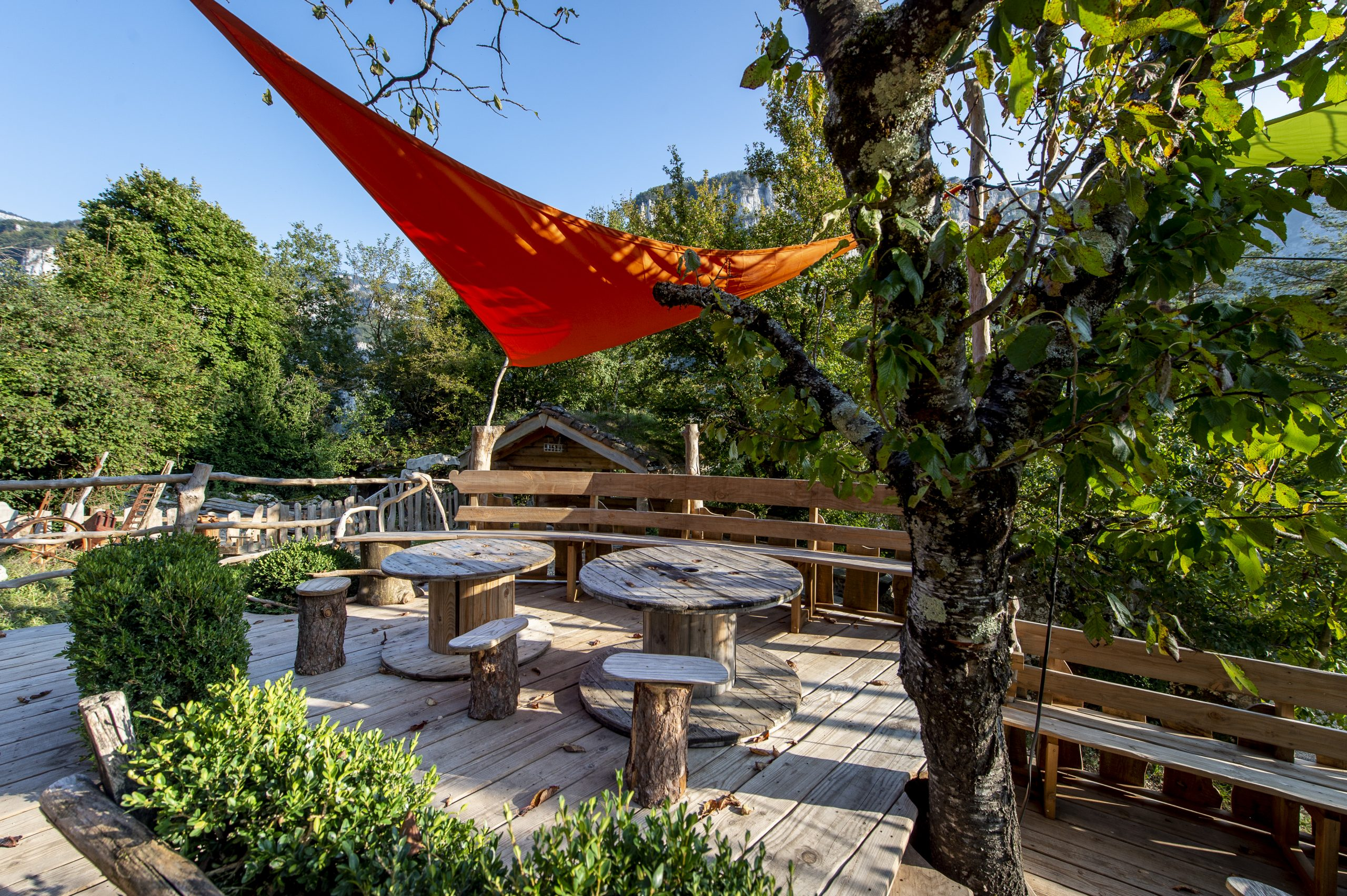 Cabane Café, terrasse restaurant outdoor vercors